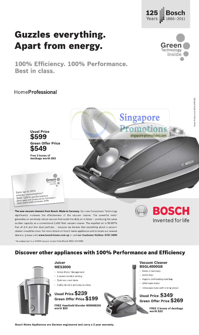 bosch home professional vacuum cleaner 22 jan 2011. Black Bedroom Furniture Sets. Home Design Ideas