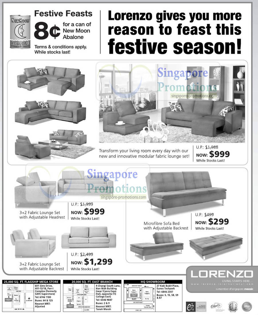 Lorenzo Furniture Sofa Sale Price List January 2011
