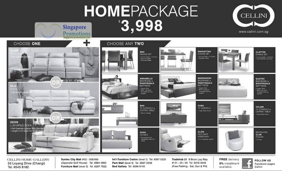 Cellini 3998 Personalized Home Packages Amp Furniture Sale