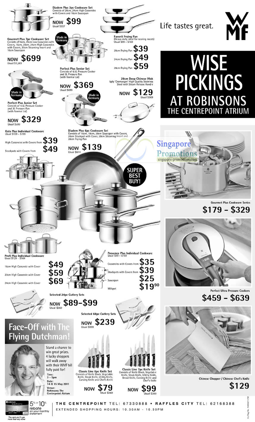 13 Apr WMF Diadem Cookware, Kitchenware, Favorit, Perfect Plus, Gala Plus, Cutlery Sets, Knife Sets, Pressure Cookers