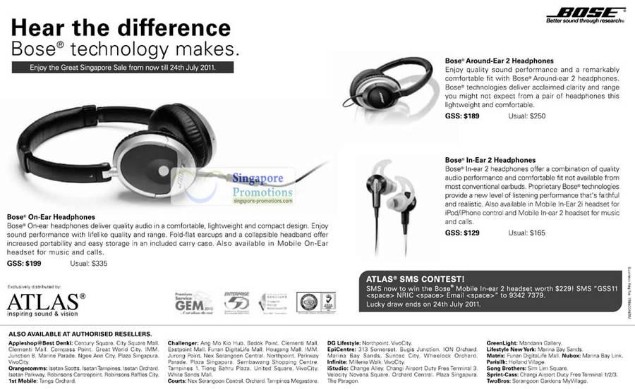 17 Jun Bose On-Ear Headphones, Around-Ear 2, In-Ear 2