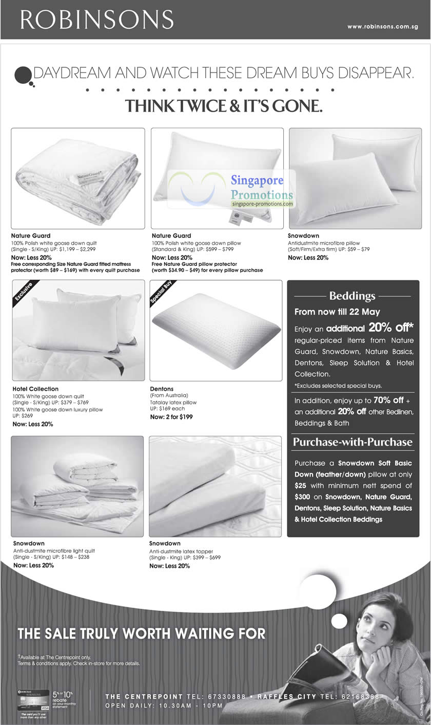 17 May Bedding Nature Guard, Snowdown, Hotel Collection, Dentons, Latex Pillow, Quilt, Microfibre