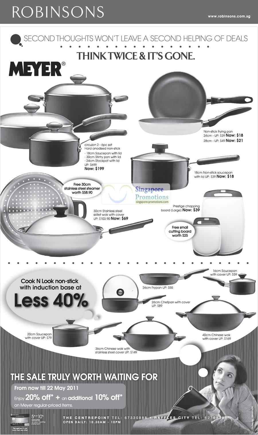 20 May Meyer Frying Pan, Wok, Prestige, Cook N Look