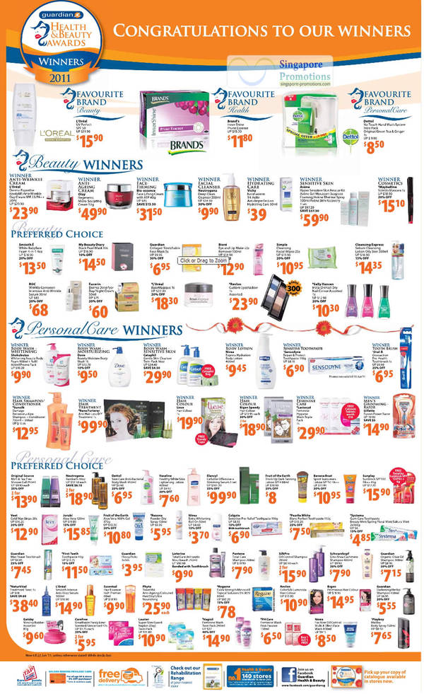 28 May Healty Beauty Awards Winners 2011, L Oreal, Vichy,Biore, Simple, Eucerin, Avlene, Olay, Eleneyl, NaturVital, Phyto