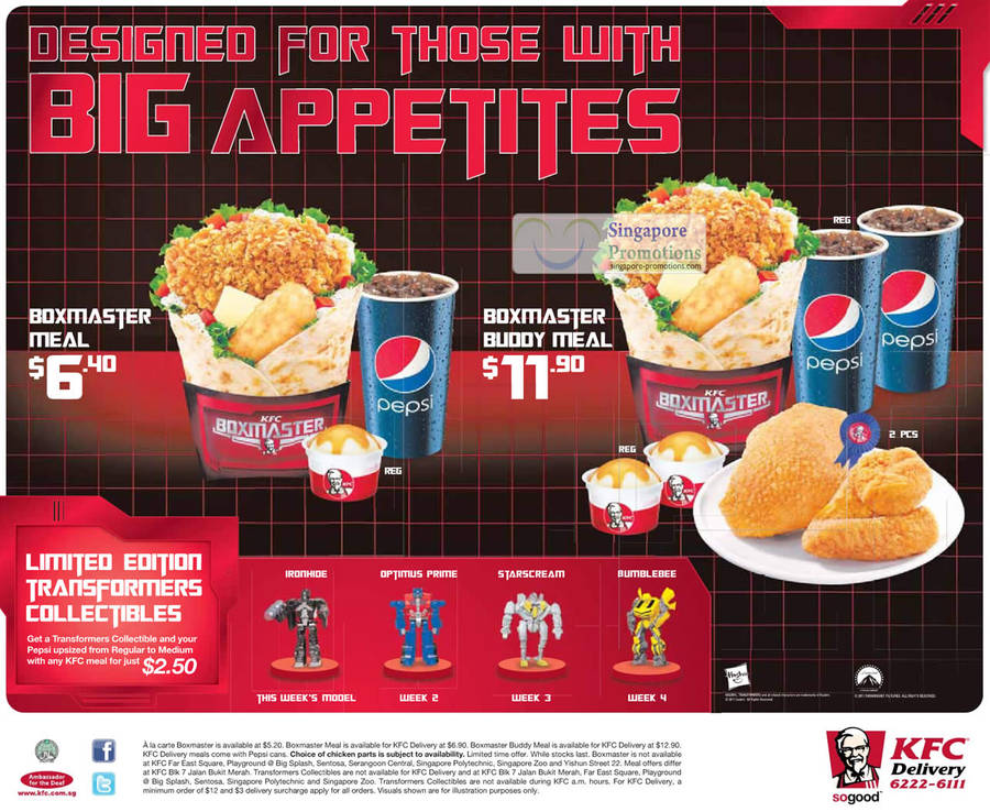 Kfc Toy Food : Kfc transformers figure collectibles boxmaster meals