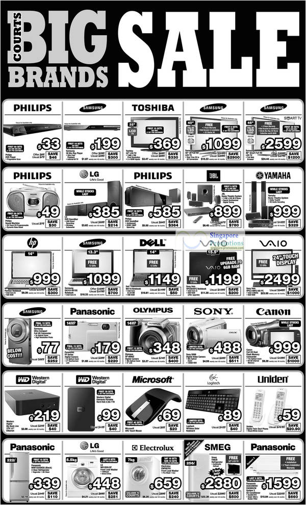 10 Jul Limited Deals, Samsung LED TV, Toshiba, Philips, Soundbar, Yamaha Home Theatre System, Notebooks Sony VPCEB45FG, VPCL148FG Desktop PC, Dell N4110, Samsung QX310