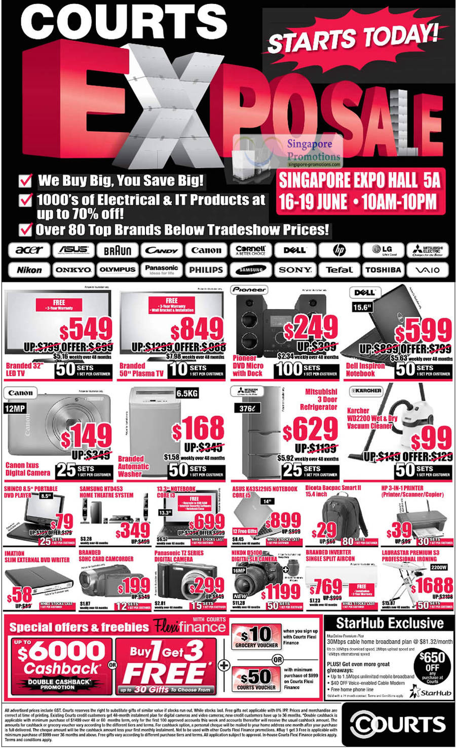16 Jun TV, LED, Plasma, Pioneer, Dell Inspiron Notebook, Canon Ixus Digital Camera, Washing Machines, Karcher WD2200, Samsung HTD463, ASUS K43SJ29i5, Nikon D5100