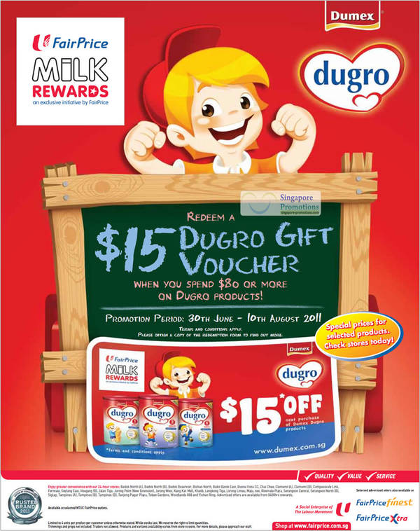 Baby Gift Ntuc : Dumex dugro spend dollars redeem dollar gift