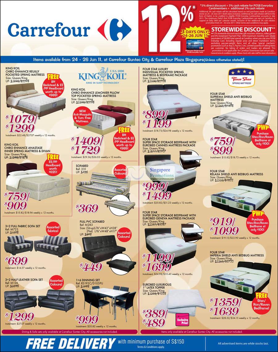 Carrefour Home Appliances Sofas Mattresses Air
