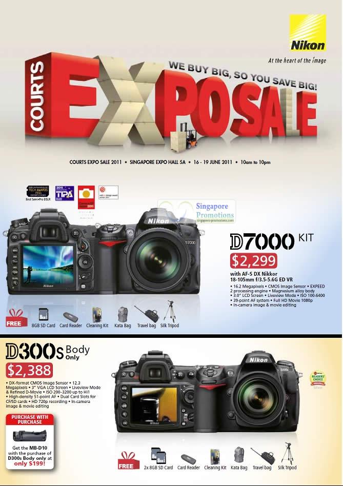 Nikon Digital Cameras DSLR, D7000, D300s