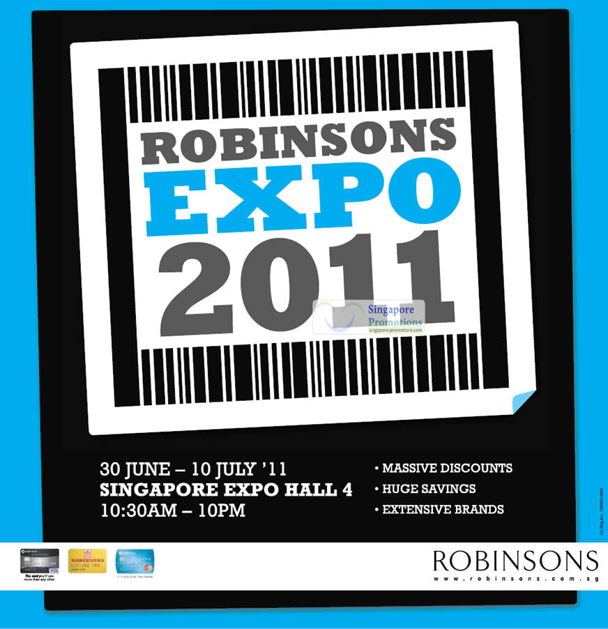 Robinsons Expo 2011 Sale at Singapore Expo