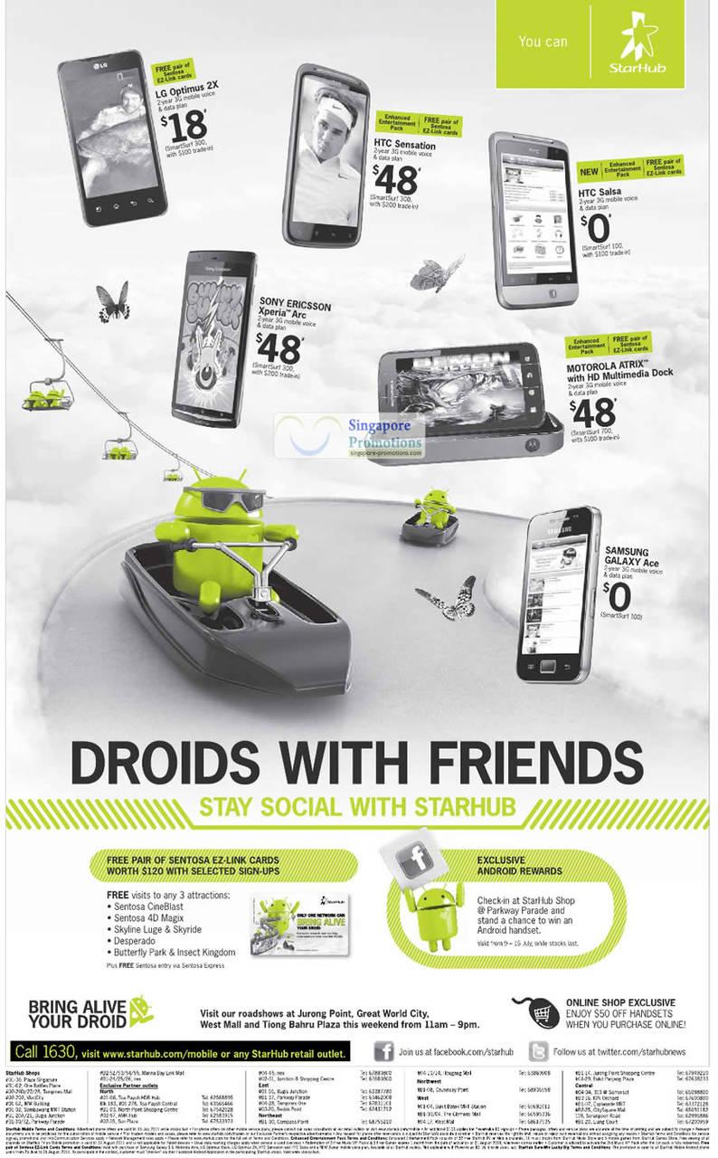 Free Sentosa EZ Link Cards, LG Optimus 2X, HTC Sensation, HTC Salsa, Sony Ericsson Xperia Arc, Motorola Atrix, Samsung Galaxy Ace