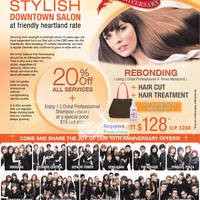 Read more about Hair Inn 15th Anniversary Sale 20% Off All Services 22 Jul 2011