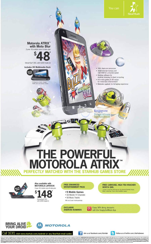Motorola Atrix, Moto Blur, Motorola Lapdock, Android