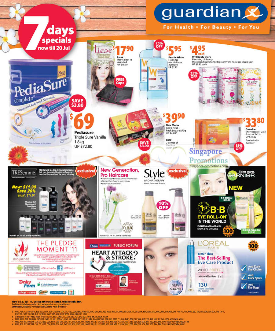 Pediasure Triple Sure Vanilla, Liese, New Moon Birds Nest, Tresemme, Garnier, Loreal Paris, Style