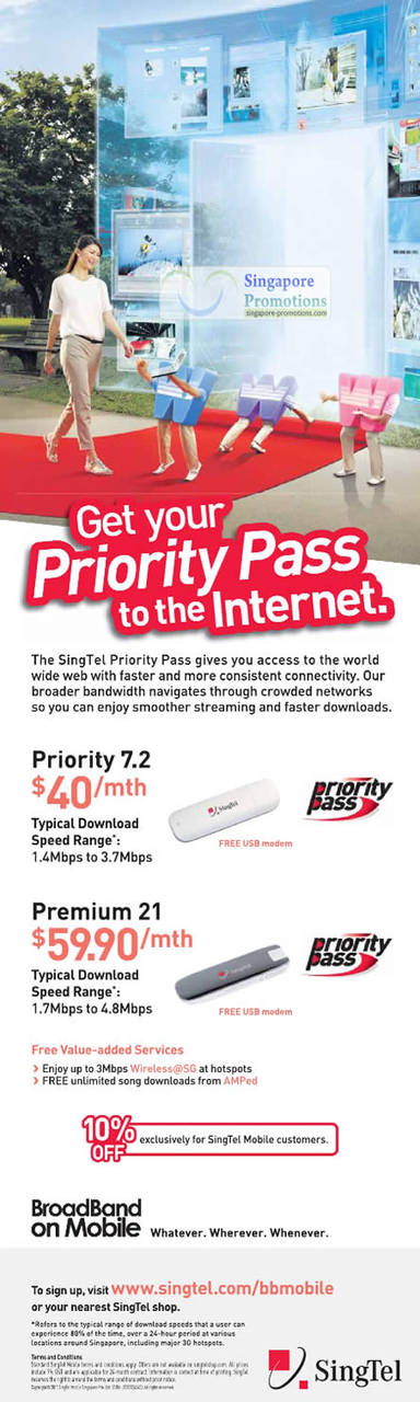 Priority Pass, 7.2, 21 Mbps, Broadband on Mobile