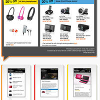 Read more about Sony Headphones & iPod/iPhone Accessories 20% Off Special Offer 1 - 31 Jul 2011