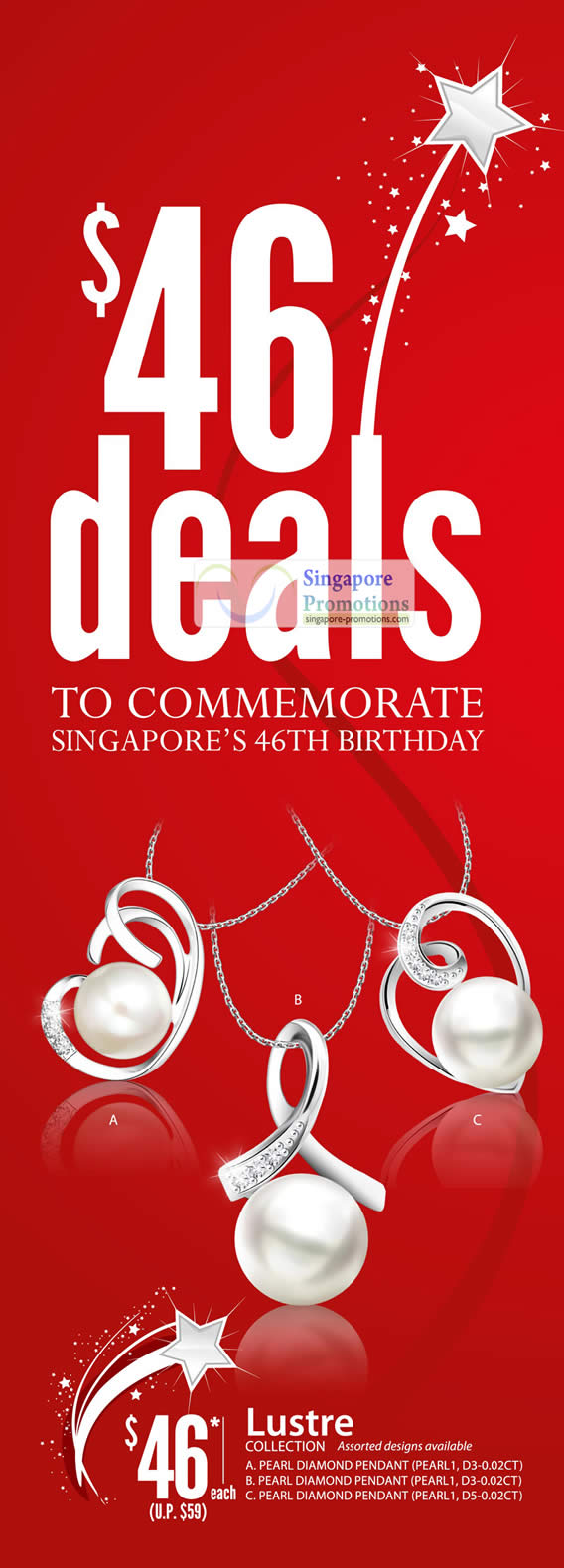 46 Dollar Deals, Lustre Collection Pearl Diamond Pendant
