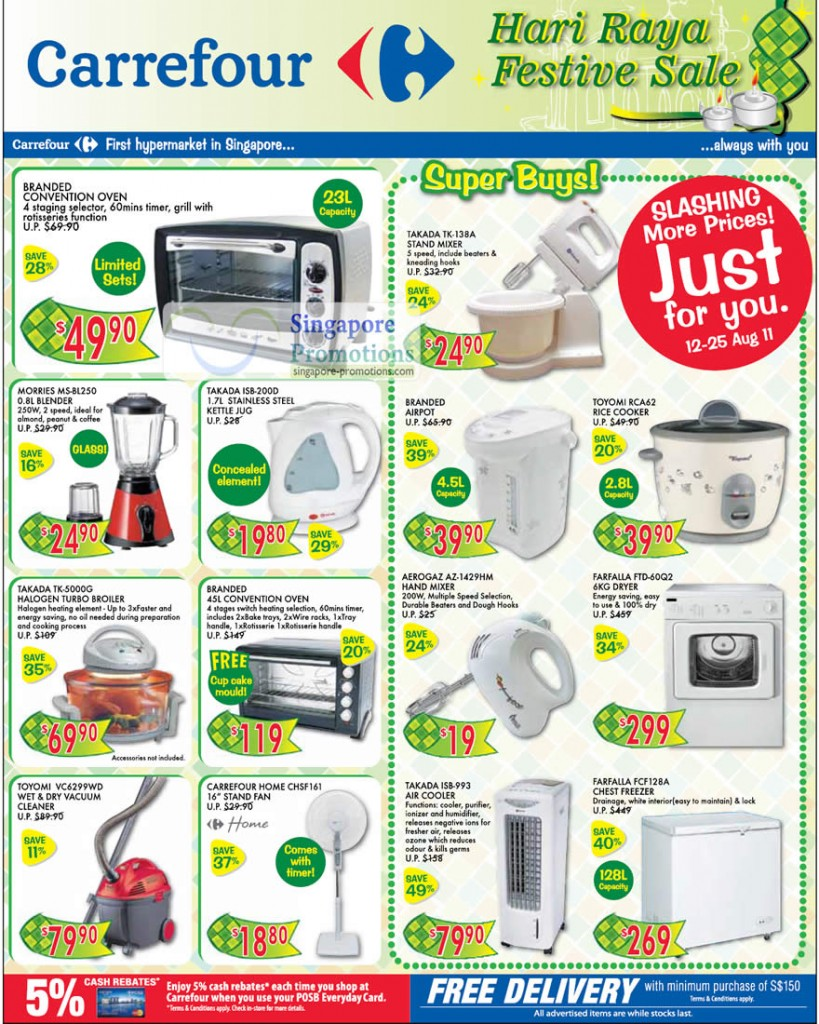 carrefour household kitchenware special offers 12 25 aug 2011. Black Bedroom Furniture Sets. Home Design Ideas