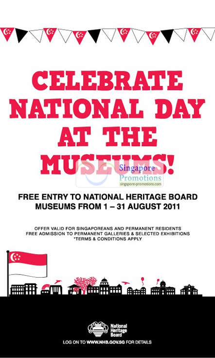 Celebrate National Day Free Entry