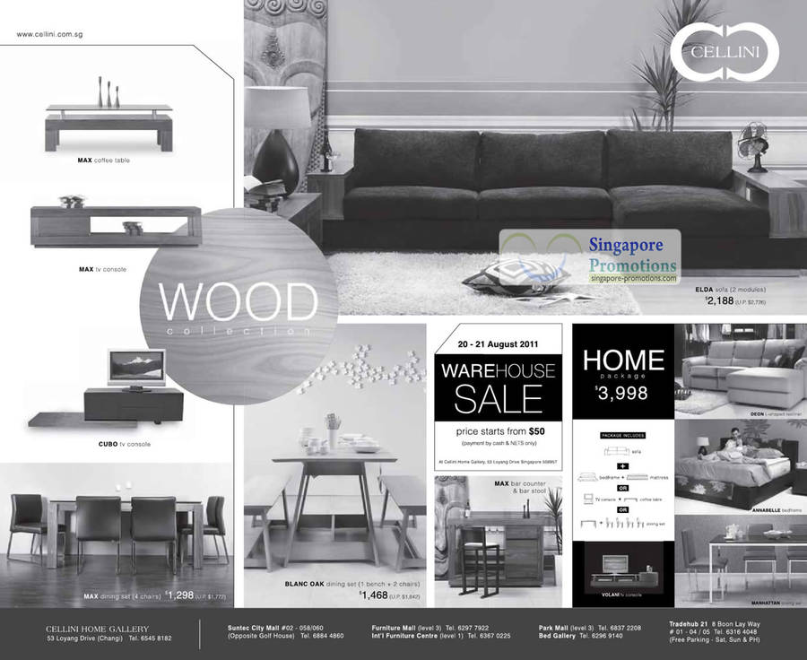 Cellini furniture warehouse sale 20 21 aug 2011 for Furniture w sale warehouse