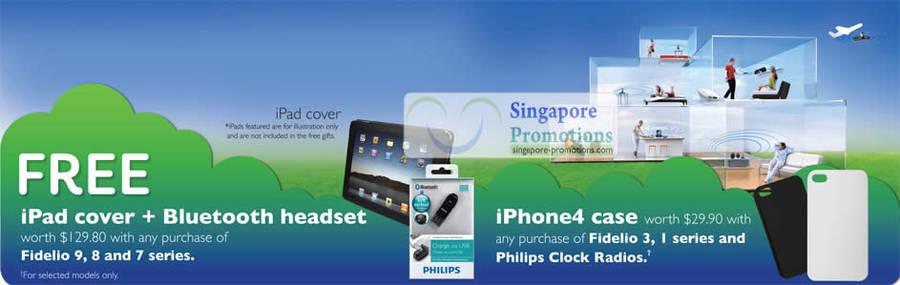 Fidelio, Free iPad Cover, Bluetooth Headset, iPhone4 case