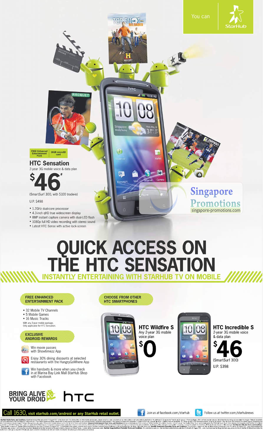 HTC Sensation, HTC Wildfire S, HTC Incredible S