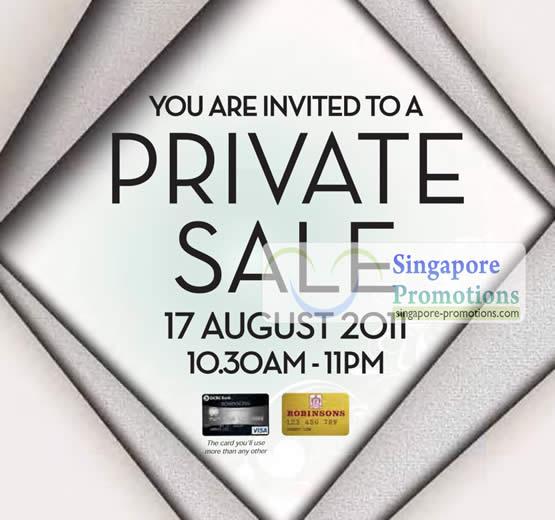 Invitation Private Sale 17 Aug