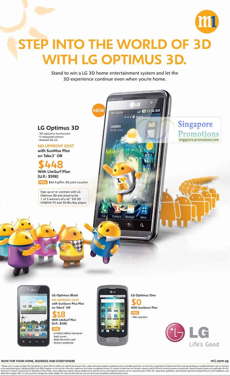 LG Optimus 3D, LG Optimus Black, LG Optimus One