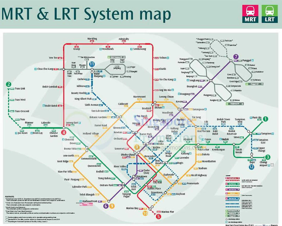 MRT Map With New Circle Line Stations � LTA To Open 12 Circle Line ...