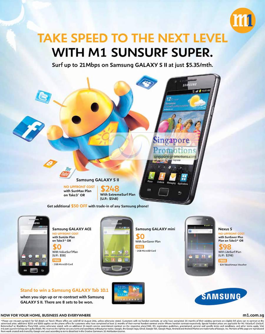 Samsung Galaxy S II, Samsung Galaxy Ace, Samsung Galaxy Mini, Nexus S