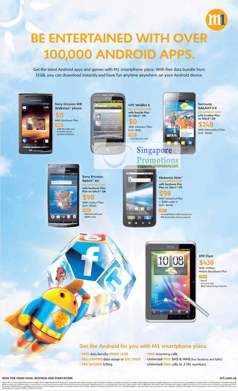 Sony Ericsson W8 Walkman, HTC Wildfire S, Samsung Galaxy S II, Sony Ericsson Xperia Arc, Motorola Atrix, HTC Flyer