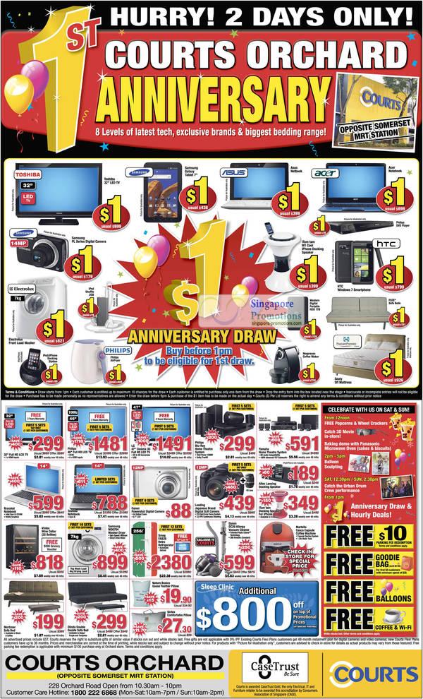 17 Sep Orchard 1st Anniversary One Dollar Deals, TV, Samsung PL Series, Samsung Galaxy Tablet, Notebook, iTam Tam M1 Cool iPhone Docking Speaker