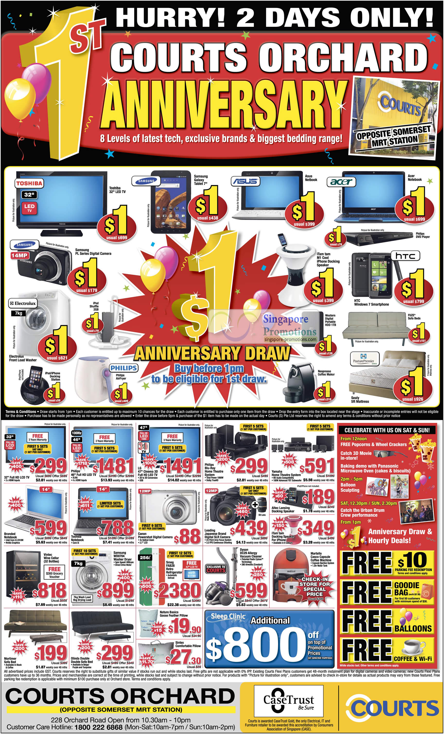 17 Sep Orchard 1st Anniversary One Dollar Deals, TV, Samsung PL Series, Samsung Galaxy Tablet, Notebook, iTam Tam M1 Cool iPhone Docking Speaker