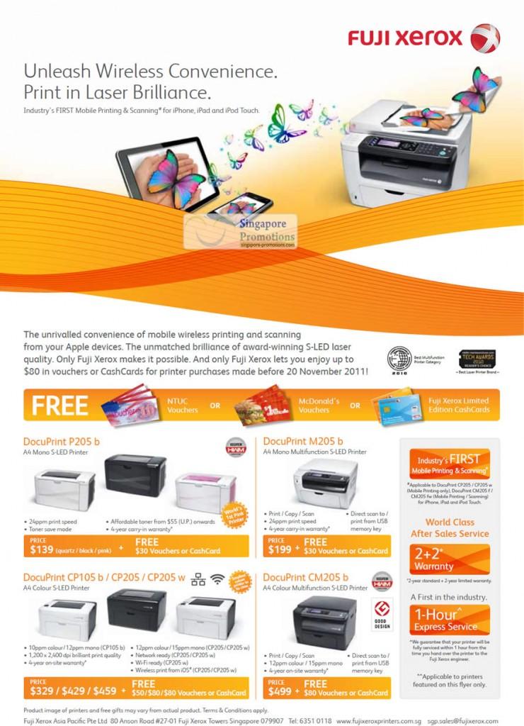 DocuPrint P205 b, M205 b, CP105 b, CP205, CP205 w, CM205 b