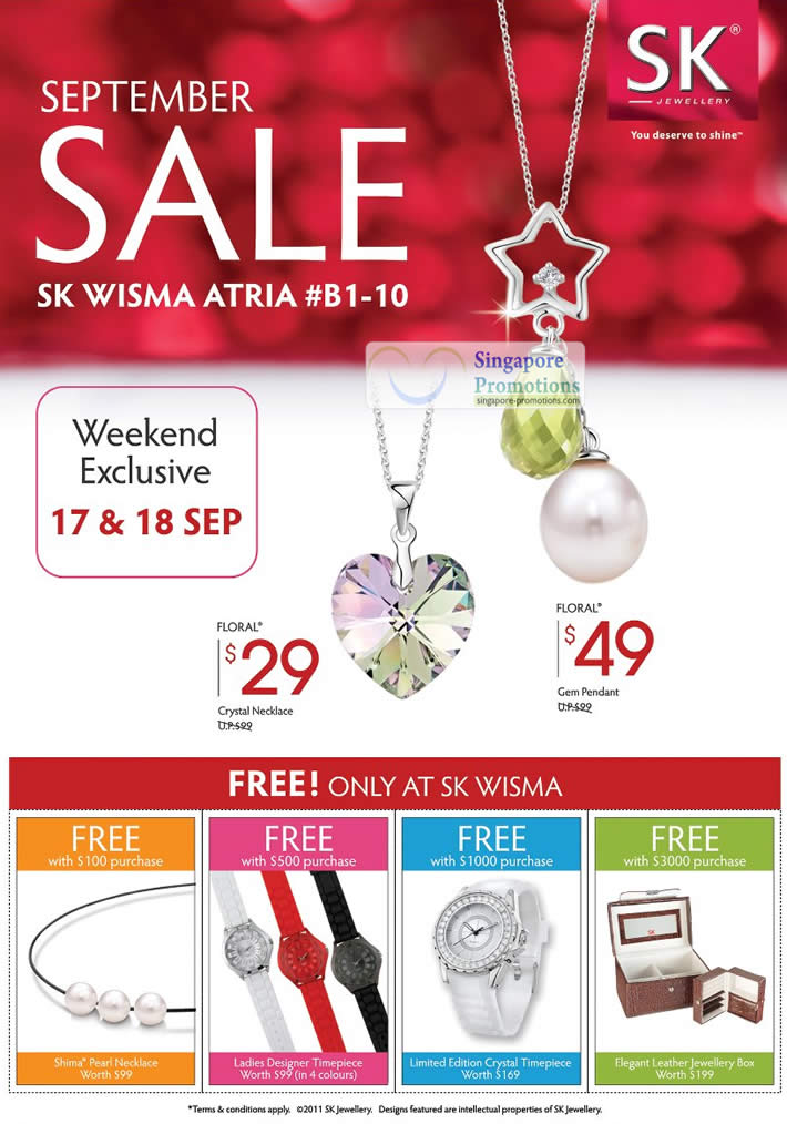 Floral Crystal Necklace, Gem Pendant, Free Gifts with Purchase