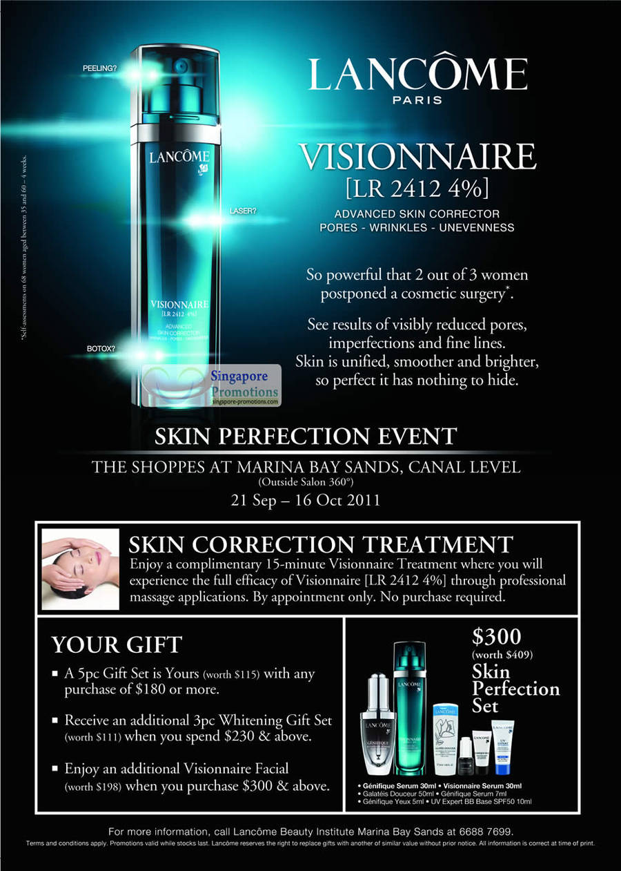 Lancome Paris Visionnaire Free Skin Correction Treatment