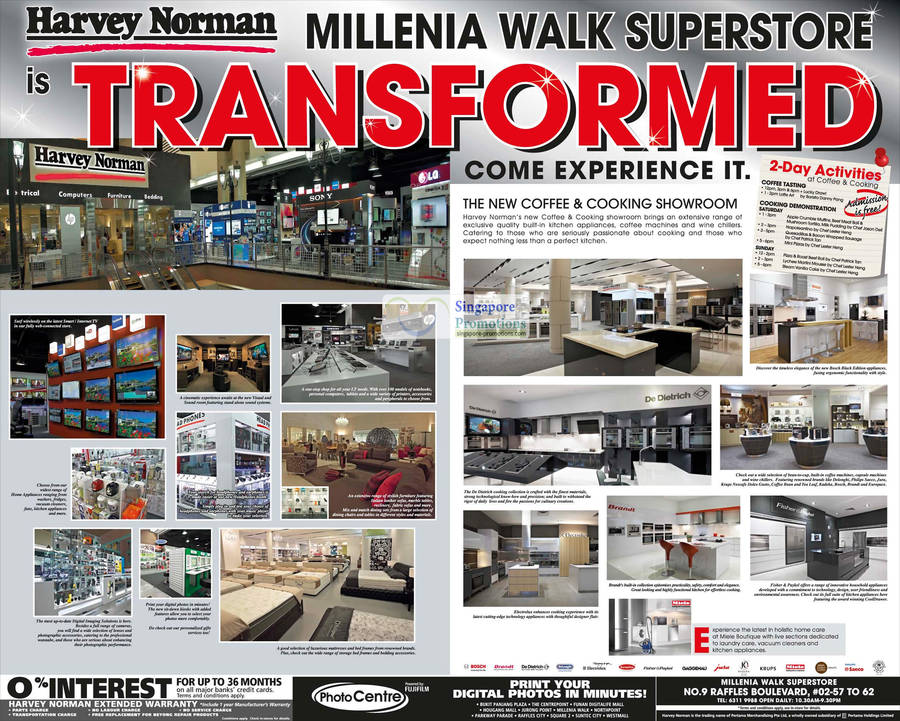 Millenia Walk Superstore Transformed, Coffee Showroom, Cooking Showroom, De Dietrich