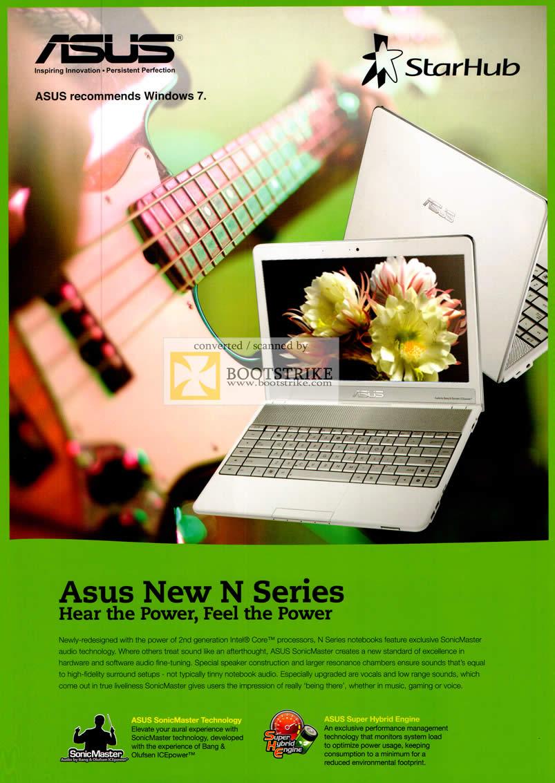 Starhub ASUS New N Series Notebook Features