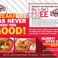Read more about T.G.I. Friday's Breakfast 1-for-1 Coupon 11 - 18 Sep 2011