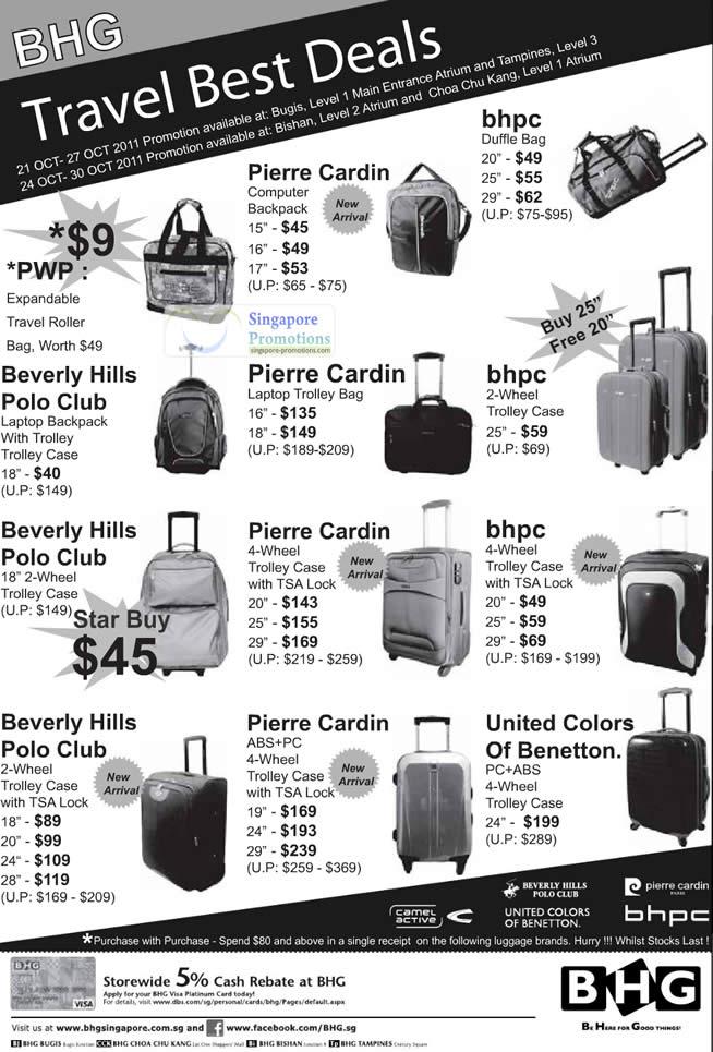 Bhg Travel Luggage Travel Best Deals Promotion 21 30 Oct