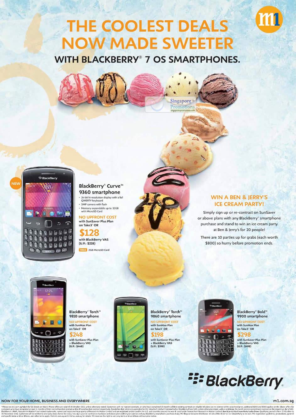 Blackberry 7 OS, Blackberry Curve 9360, BlackBerry Torch 9810, BlackBerry Torch 9860, BlackBerry Bold 9900
