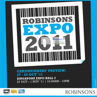 Read more about Robinsons Expo 2011 Sale @ Singapore Expo 27 Oct - 1 Nov 2011