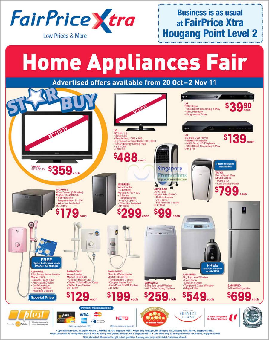 Home Appliance Fair Morries Wine Cooler JC-23H, JC-33V, Aerogaz Air Cooler AZ-1630AC, Taiyo Portable Air Conditioner AC9K