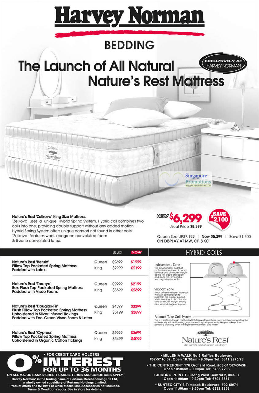 Natures Rest Zelkova Mattress, Betula Latex, Torreya Visco Foam, Douglas-Fit, Cypress