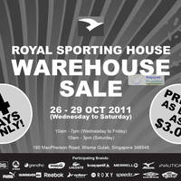 Read more about Royal Sporting House Warehouse Sale 26 - 29 Oct 2011