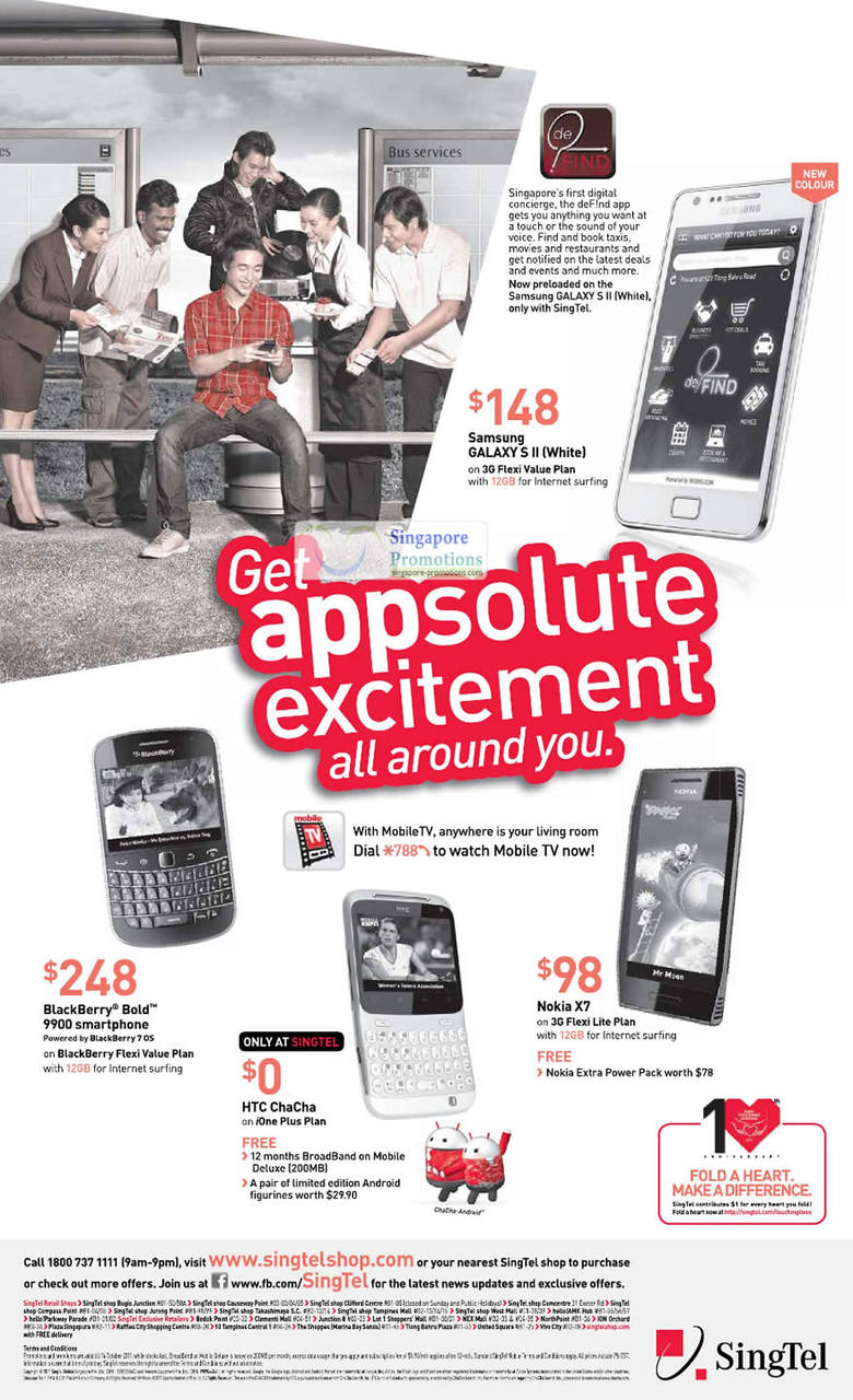 Samsung Galaxy S II, Blackberry Bold 9900, HTC ChaCha, Nokia X7