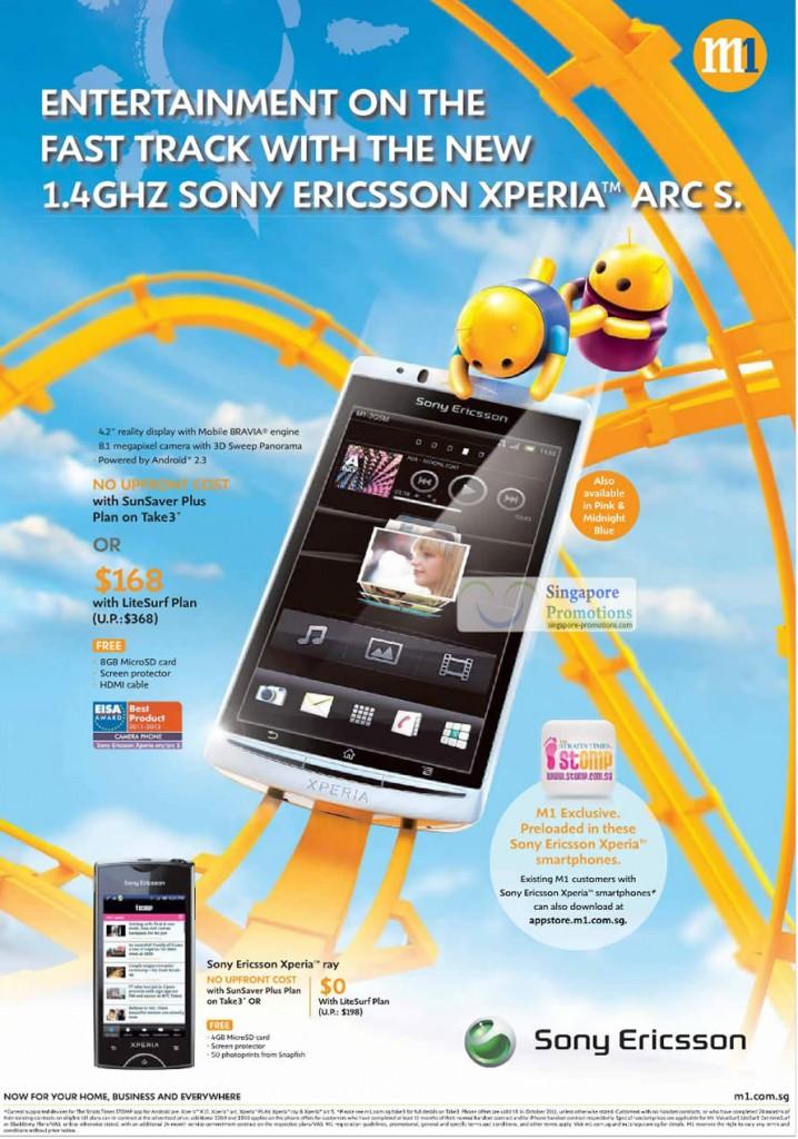 Sony Ericsson Xperia Arc S, Sony Ericsson Xperia Ray