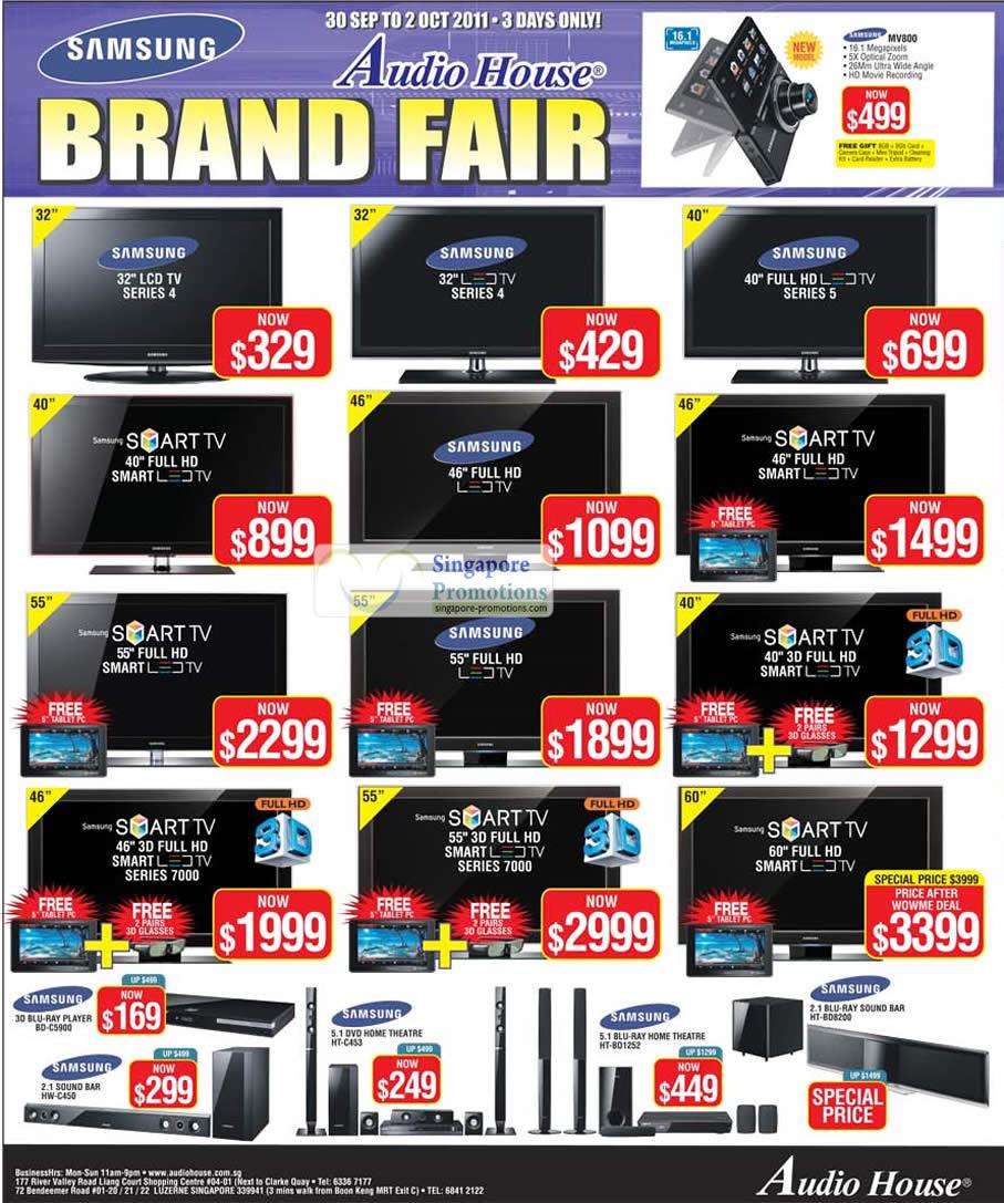 TV, BD-C5900 Blu Ray Player, HW-C450 Sound Bar, HT-C453 Home Theatre, HT-BD1252