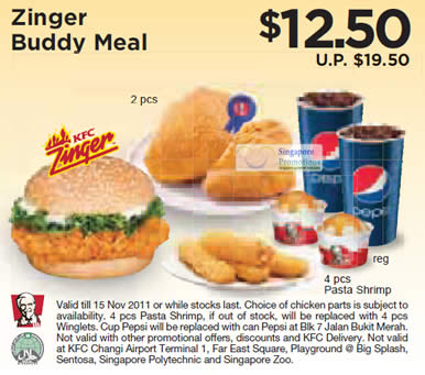 Zinger Buddy Meal Coupon